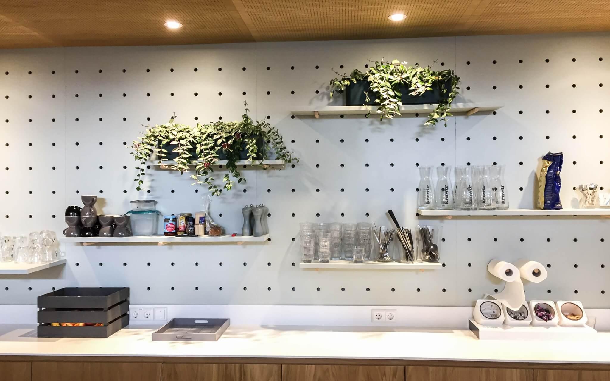 Interieurbeplanting planten aan wand bij Fondsbeheer