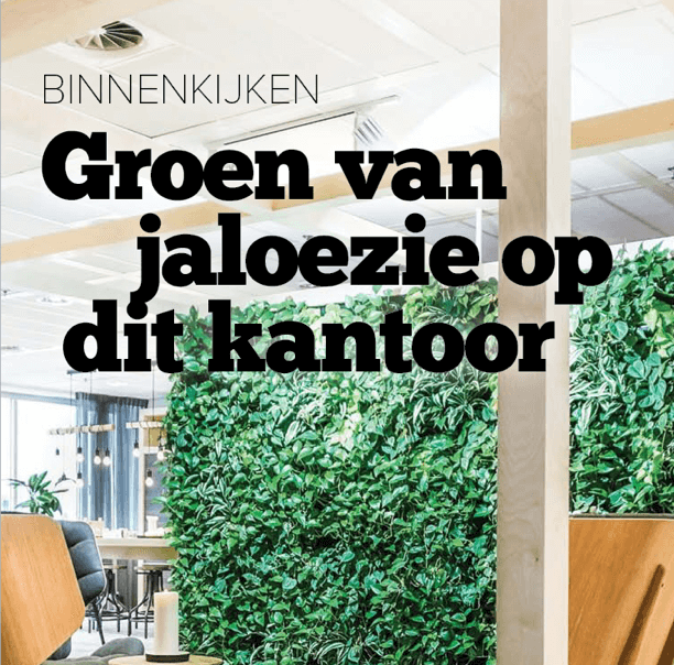 groen kantoor interieur magazine