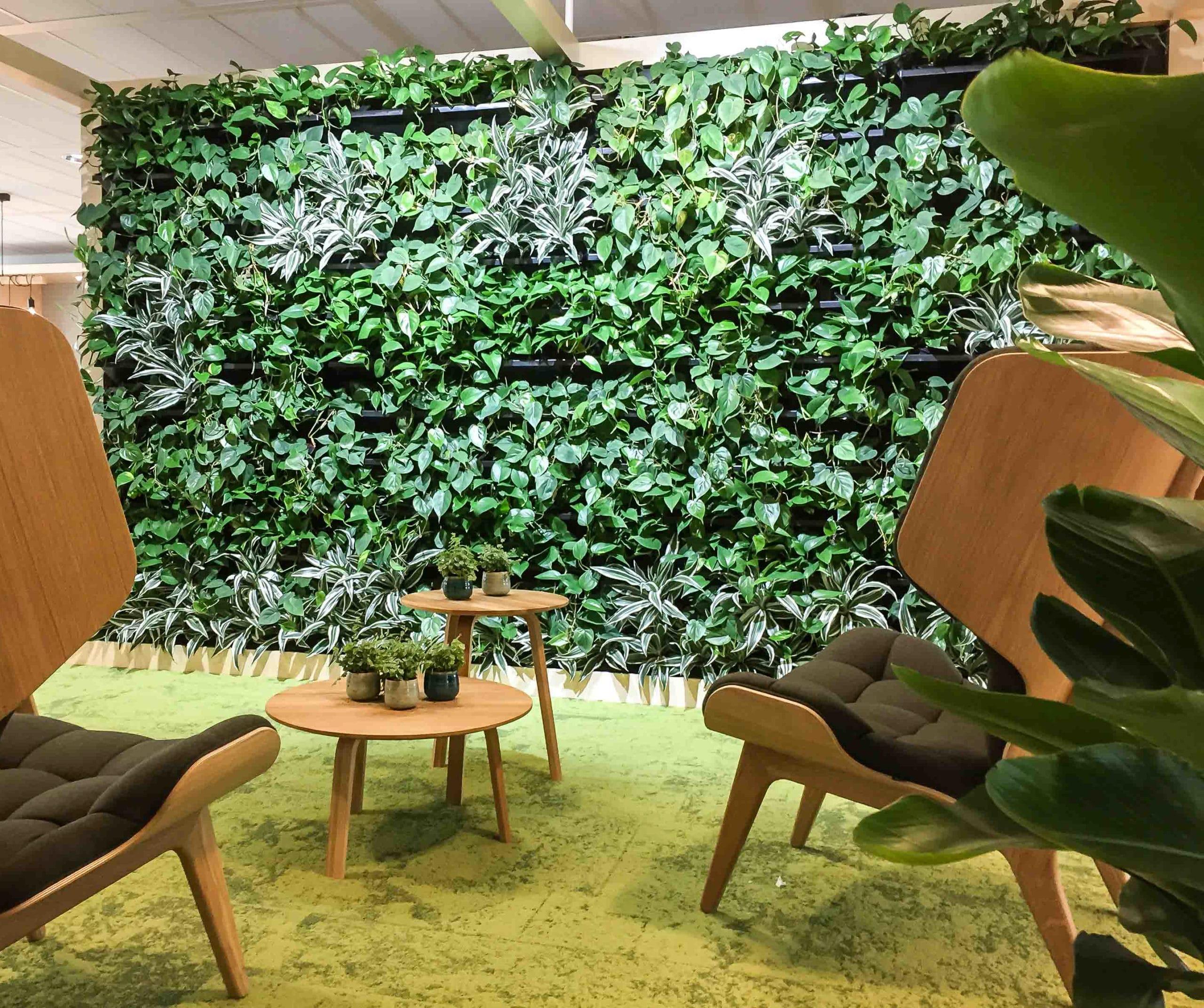 Nextgen groene wand green wall bij Incyte