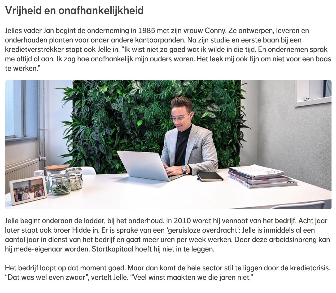Interview met Jelle Hoogendoorn voor Nationale Nederlanden