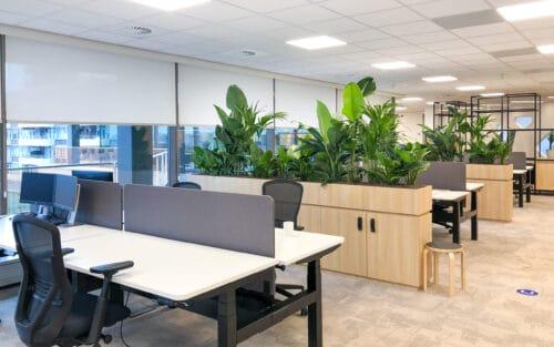 Urban jungle roomdividers met planten bij Link Asset Services