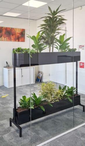 Hydrocultuur planten in Mynthe roomdivider